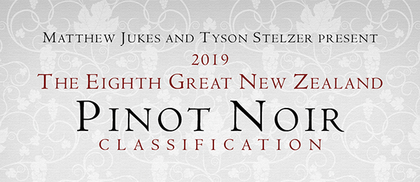 The Great New Zealand Pinot Noir Classification 2019
